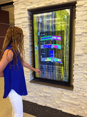 digital signage for lobbies